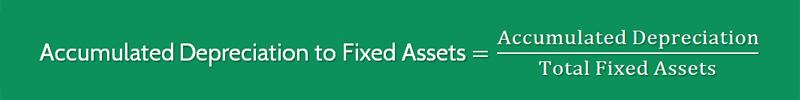 Accumulated Depreciation to Fixed Assets Ratio Formula 1