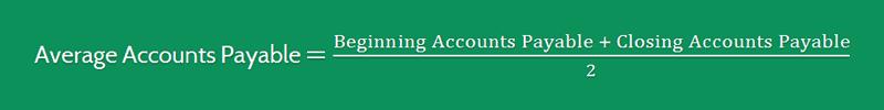 Average Payment Period Formula 2