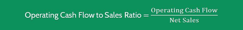 Cash Flow to Sales Ratio Formula