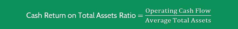 Cash Return on Assets Ratio Formula 1