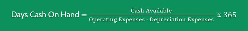 Days Cash on Hand Formula