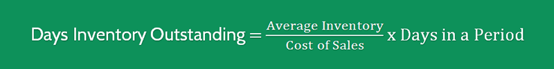 Days Inventory Outstanding Formula