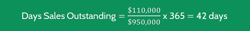 Days Sales Outstanding Calculation 2