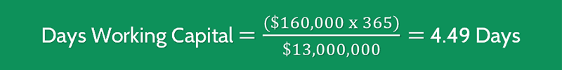 Days Working Capital Calculation 2