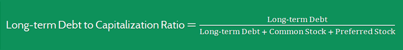 Long term Debt to Capitalization Ratio Formula 3