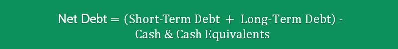 Net Debt to EBITDA Ratio Formula 2