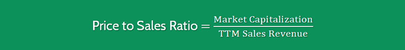 Price to Sales Ratio Formula 1