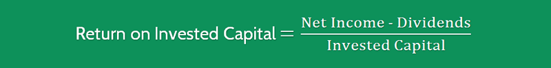 Return on Invested Capital Formula 1