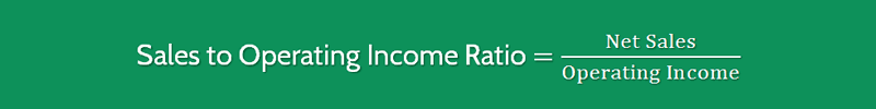 Sales to Operating Income Ratio Formula 1