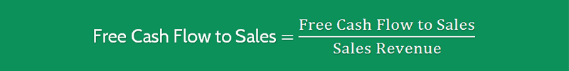 Free Cash Flow to Sales Ratio Formula 1